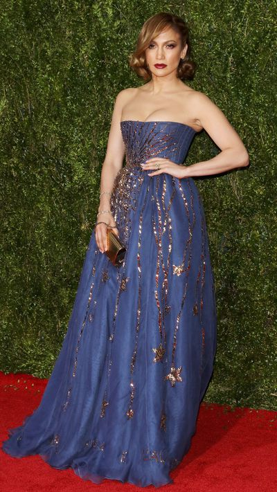 <p>Jennifer Lopez in Valentino Couture at the Tony Awards.</p>