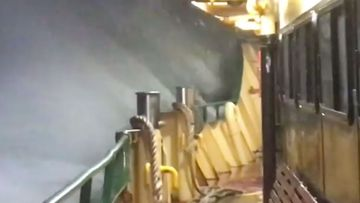 Ferry worker Haig Cilchrist captured the dramatic ferry ride.