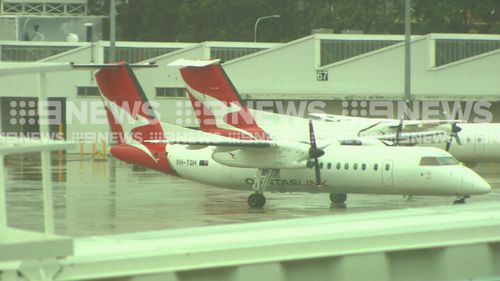 Passengers were transferred onto another flight. Picture: 9NEWS