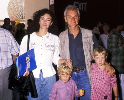 Mary Steenburgen and Malcolm McDowell with their children Charlie McDowell and Lily McDowell