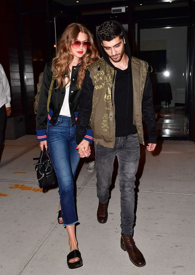 There's no denying that Gigi Hadid and Zayn Malik look good together, but it's more than just great bone structure that makes these two #couplegoals. Since they started dating in December last year, the model of the moment and former One Direction member have adopted complementary wardrobes, proving that the best accessory is a well dressed mate. Click through to see their twinning moments, as well as the other stylish couplings who rule fashion.