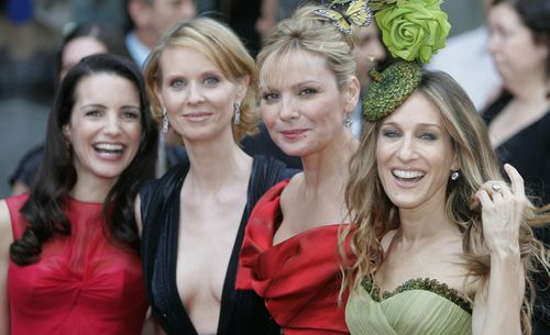 The Sex and the City lead cast including Kristin Davis, Cynthia Dixon, Kim Cattrall and Sarah Jessica Parker. (AAP)