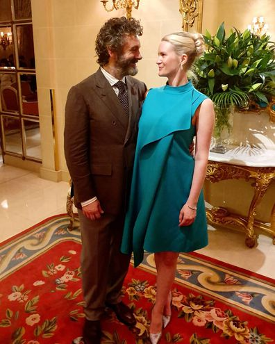 Michael Sheen and Anna Lundberg at the world premiere for Good Omens in London
