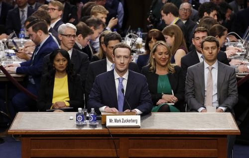 Zuckerberg has apologised to the Senators for Facebook's actions. (AAP)