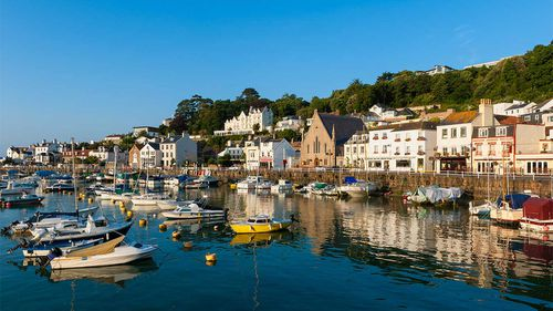 The village of Saint Aubin, on Jersey, one of the Channel Islands. France has threatened to cut off electricity to the island in a spat over fishing rights.