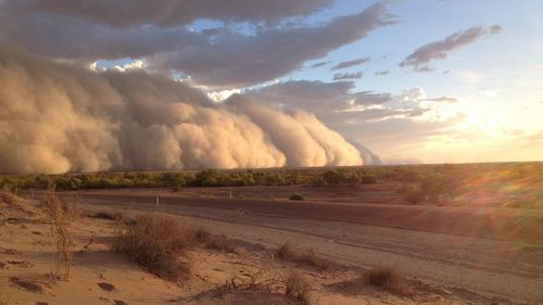 Locals say the dust storm turned 'day into night'. (Supplied, Maggie den Ronden)