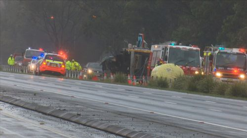 All northbound lanes of the M1 Motorway at Berowra in Sydney's north have been closed following a crash.