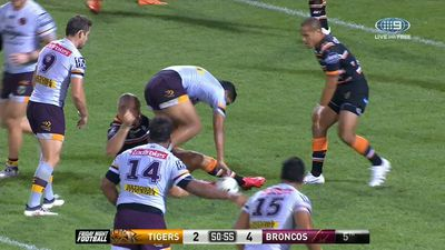 Jack Bird denied try in NRL debut for Brisbane Broncos