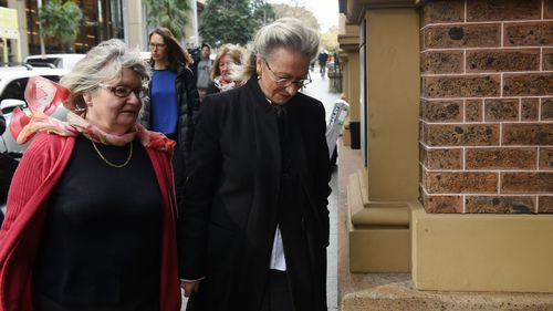 Wran's mother, Jill Hickson (right) was in court. (AAP)