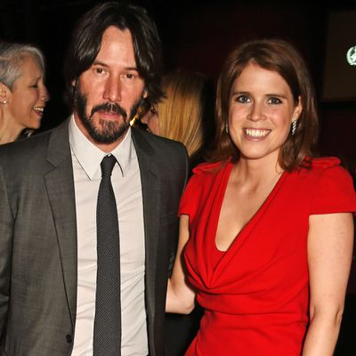 Princess Eugenie and Keanu Reeves