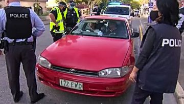 A full carload of unmasked people heading for protest action in the city this morning was captured by 9News being arrested after refusing several officers directives.