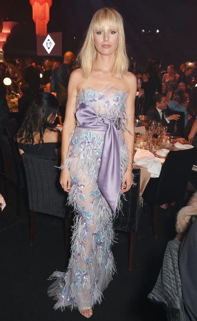 Karolina Kurkova in Marchesa at the amfAR Gala, Cannes 2017