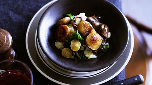 Mushroom and chestnut risotto