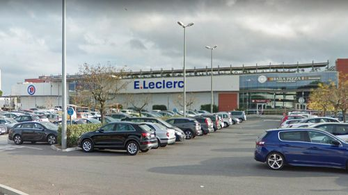 The attack reportedly took place at a E. Leclerc store in the French town of La Seyne-sur-Mer. Picture: Google Maps