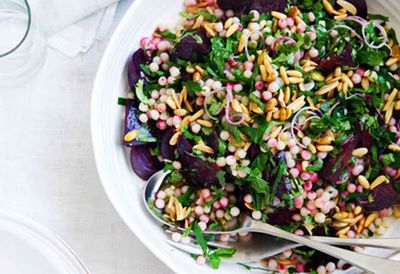 Middle Eastern-inspired beetroot and moghrabieh salad