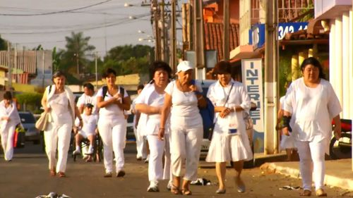 Visitors to the John of God compound in Brazil wear all-white, as they are told it assist their openness to healing energy.