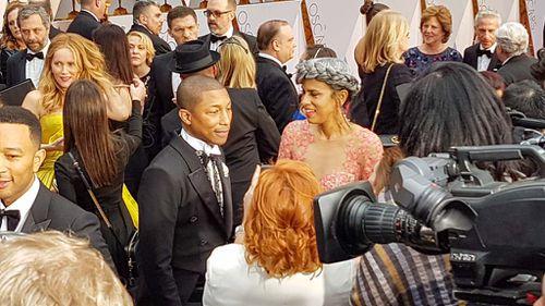 Singer-songwriter Pharrell Williams. (9NEWS/Ehsan Knopf)