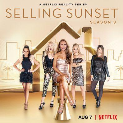 Netflix's Selling Sunset cast, Davina Potratz, Christine Quinn, Chrishell Stause, Mary Fitzgerald, Maya Vander.