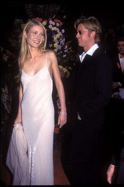 Brad Pitt and Gwyneth Paltrow in Calvin Klein at the 1996 Academy Awards