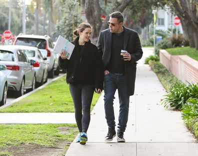 Exes Jennifer Garner and Ben Affleck in February 2019, in Los Angeles.