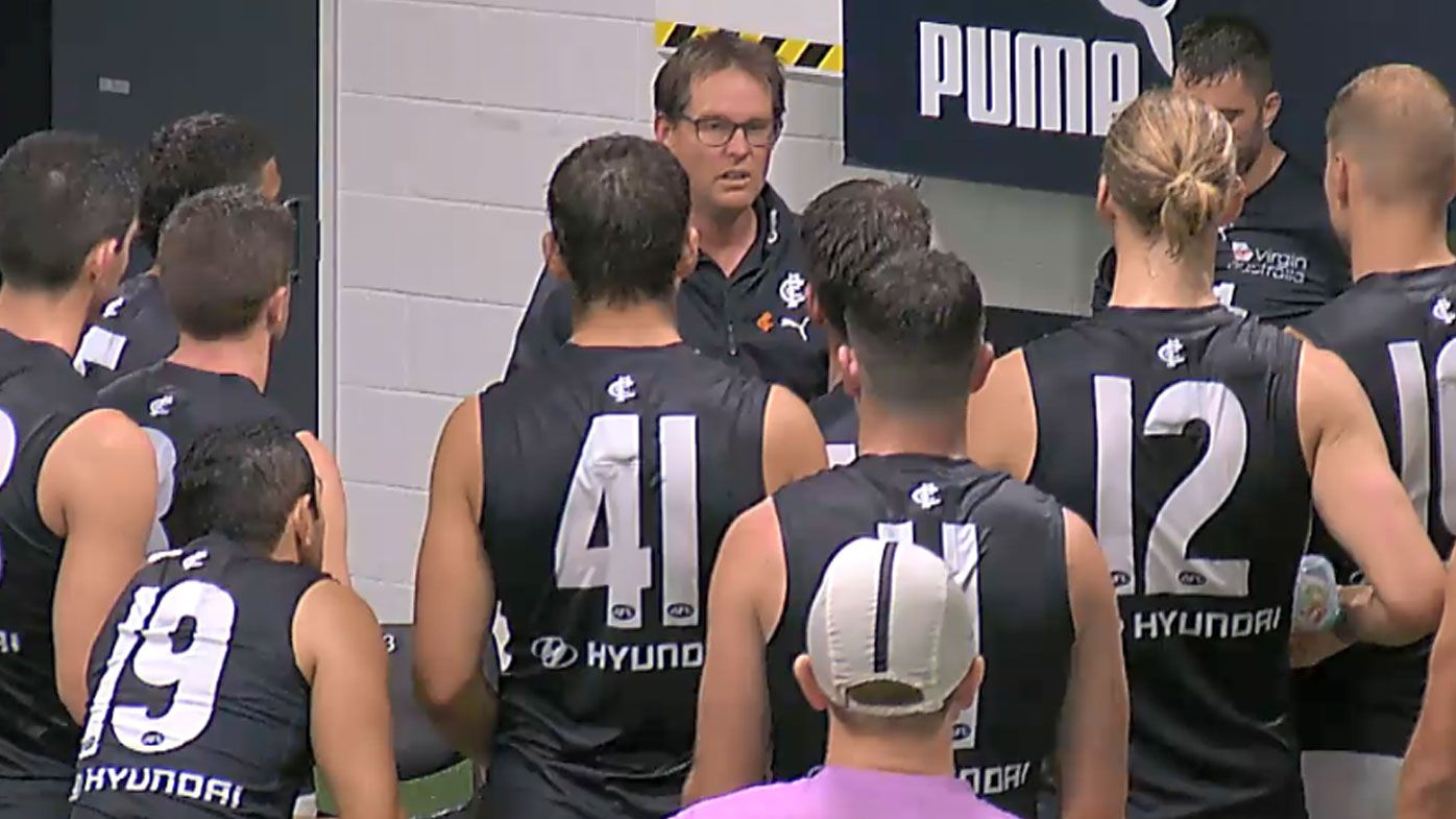 David Teague unleashes on Blues with almighty spray in Kade Simpson's farewell match
