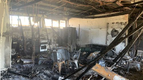 The staff room at Hampstead Primary School was completely destroyed.