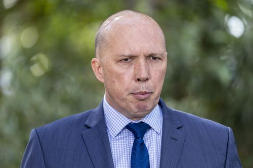 Home Affairs Minister Peter Dutton has taken aim at Labor MP Anthony Albanese, a one-time leadership rival of Mr Shorten. Picture: AAP
