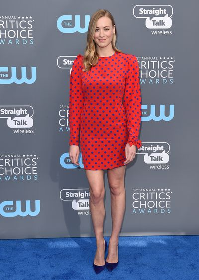 Yvonne Strahovski at the 23rd Annual Critics Choice Awards in Santa Monica, January 2018