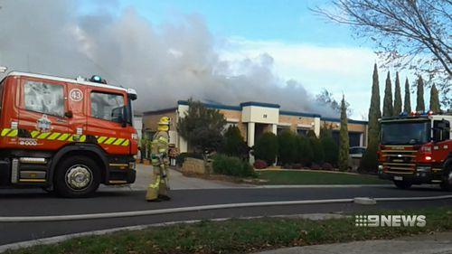 A man has died in a house fire in Melbourne's west.