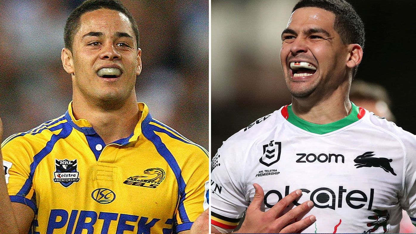 Andrew Johns says Cody Walker is nearing the heights of Jarryd Hayne's iconic 2009 run of form. (Getty)
