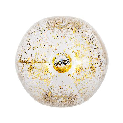 Adorable glitter beach ball for your next big-people pool party.