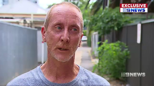 Wayne Copley was shocked when he found two intruders from a nearby homeless shelter in his lounge room.