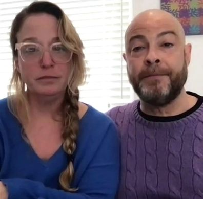 Dr. Laura Berman and her husband, Samuel Chapman on US Today Show