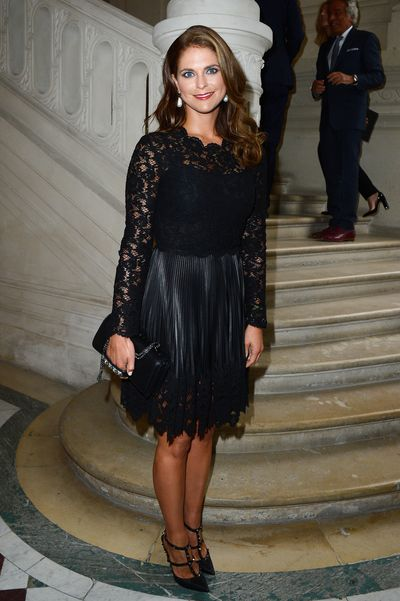 Princess Madeleine of Sweden in Valentino at the Valentino show as part of Paris Fashion Week Haute-Couture Fall/Winter in Paris, July, 2013