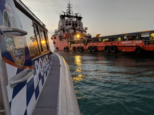 Australian Maritime Safety Authority (AMSA), their Joint Rescue Coordination Centre (JRCC) and the shipping vessel Mermaid Vision worked with Northern Territory Water Police. (NT Police)