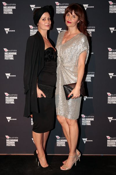 Designer Camilla Staerk and Supermodel Helena Christensen in Collette Dinnegan