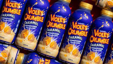 Violet Crumble Caramel Honecomb Flavoured Milk