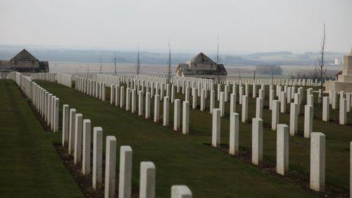 Australian war graves in Villers-Bretonneux. (AAP)