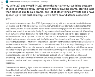 The man has shared their unfortunate experience on Reddit.
