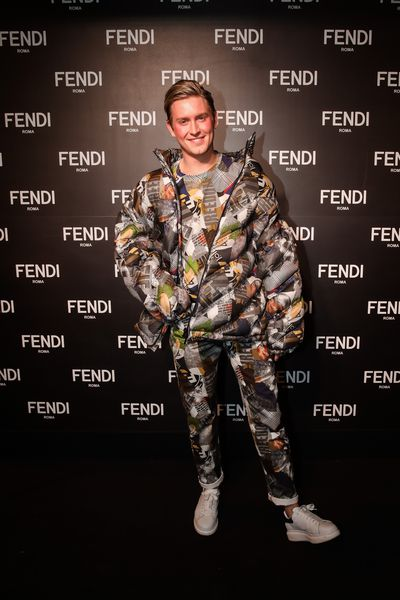 Elliot Garnaut at the opening of Fendi's new boutique in Collins Street Melbourne