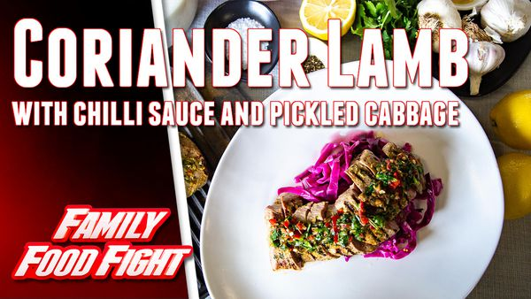 The Tartaglia's coriander lamb backstrap and pickled cabbage