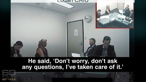 The program aired segments of Julene Thorburn's police interview. (60 Minutes)