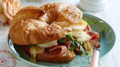"""<a href=""""http://kitchen.nine.com.au/2016/05/05/16/28/breakfast-croissants"""" target=""""_top"""">Breakfast croissants</a> recipe"""