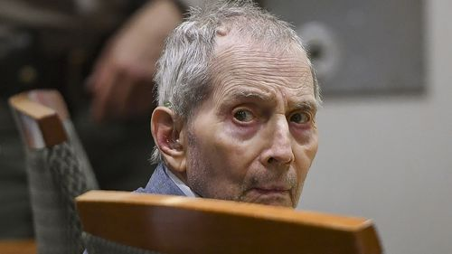 Real estate heir Robert Durst sits during his murder trial at the Airport Branch Courthouse in Los Angeles on Thursday, March 5, 2020.