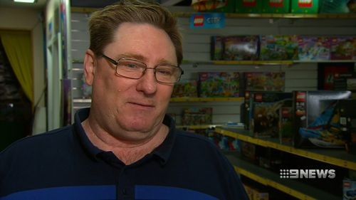Mr Campbell also said he found Lego products had been tipped out of their boxes onto the store floor in the break-in.