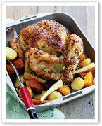 Mustard roast chicken