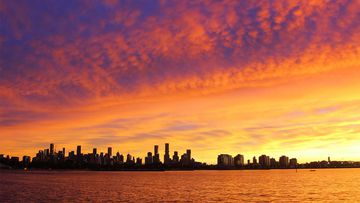 Melbourne wakes to spectacular sunrise on last day of lockdown