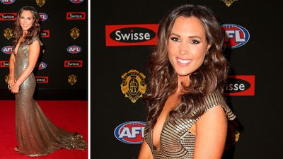 Belinda Riverso arriving at the Brownlow ceremony. (Getty)