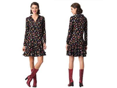 "<p><a href=""http://www.leonaedmiston.com/au/new-arrivals/etta-stitch-in-time-d1360-sti.html"" target=""_blank"" draggable=""false"">Leona Edmiston Etta Dress, $199.</a><br /> This busy pattern won't show marks and the drop waist is awesome if you're sitting all day.</p>"
