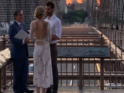 The couple took the opportunity to wed on the bridge during COVID on the Brooklyn Bridge in New York.
